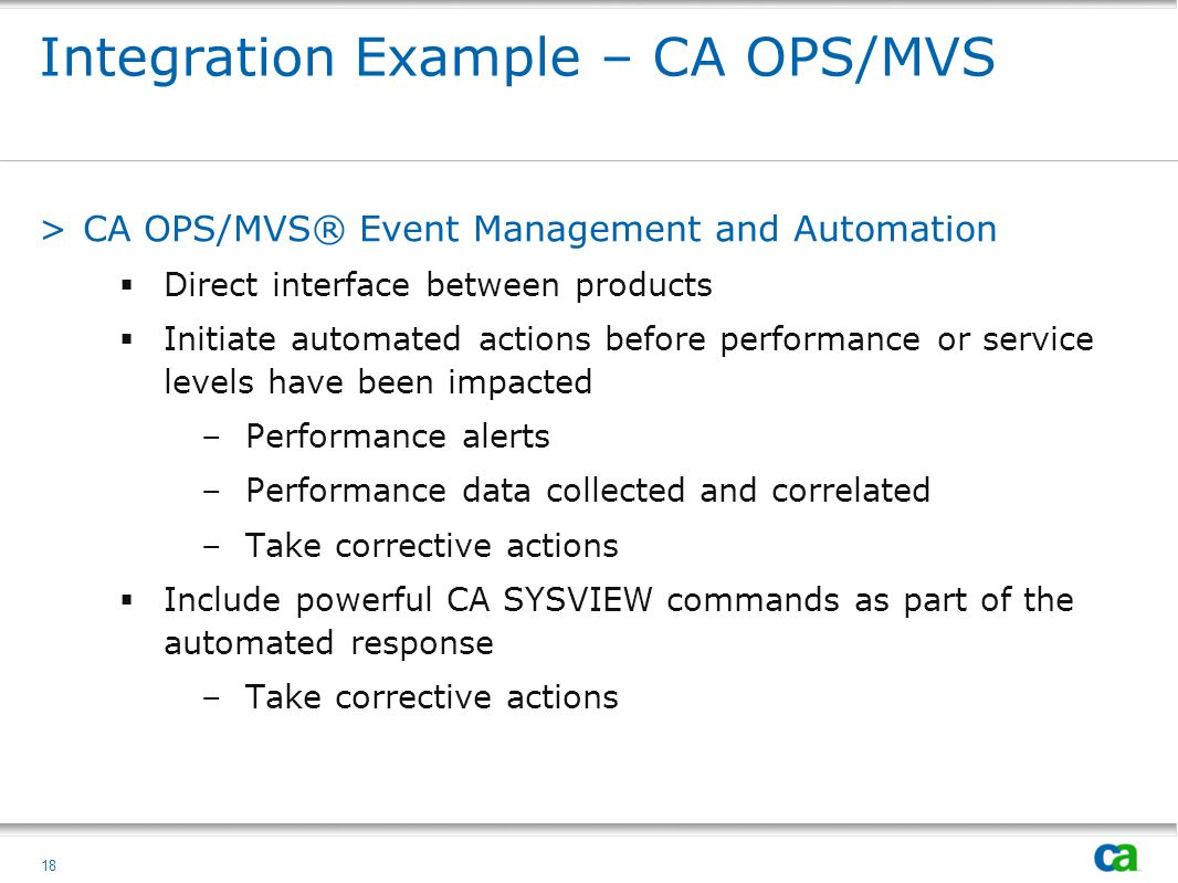 Integration Example – CA OPS/MVS