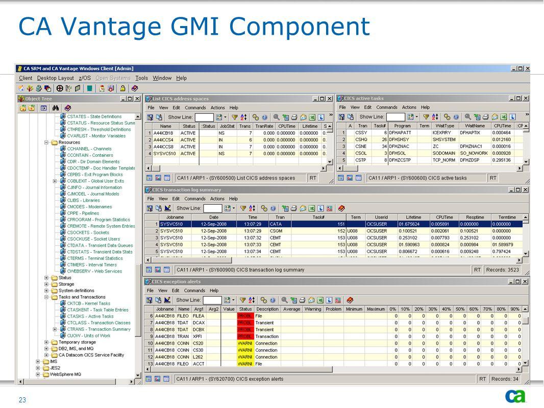 CA Vantage GMI Component