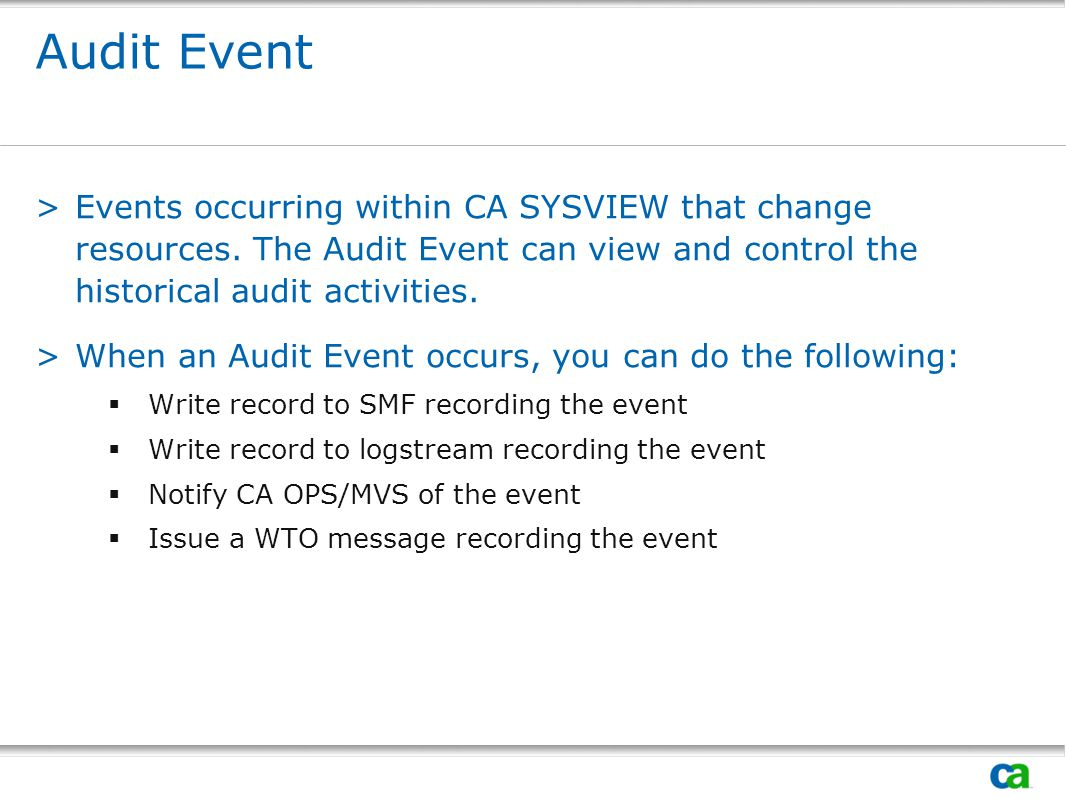 Session #: Title. Audit Event.