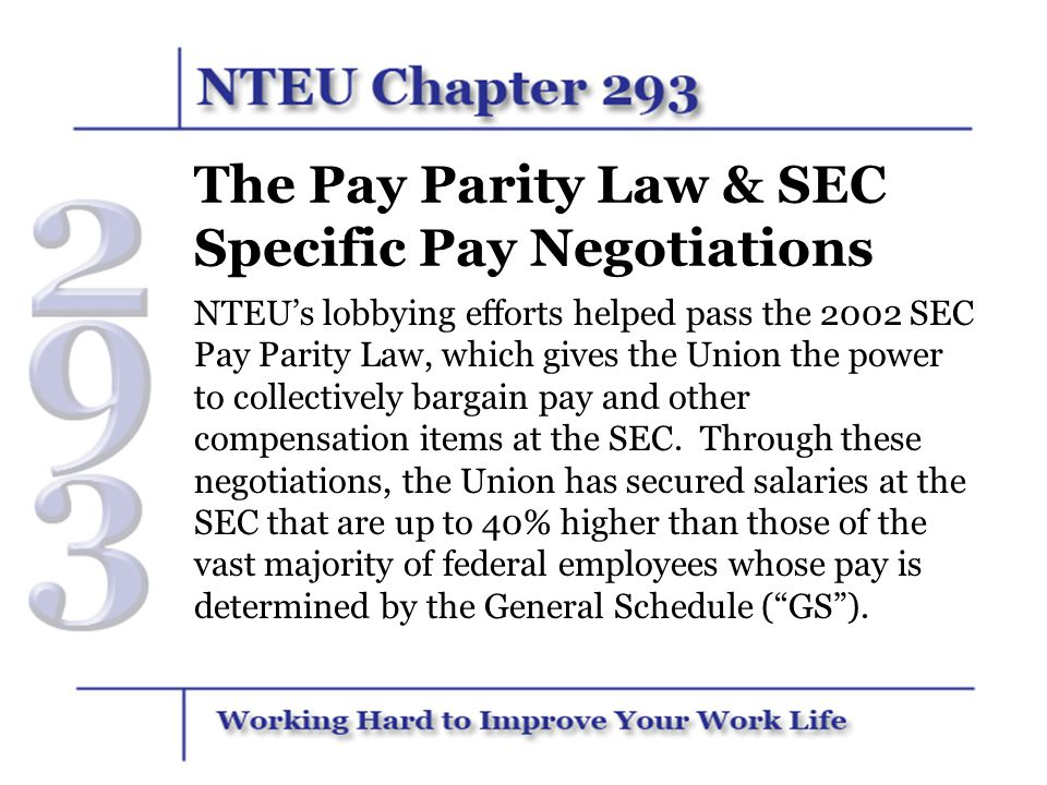 The Pay Parity Law & SEC Specific Pay Negotiations