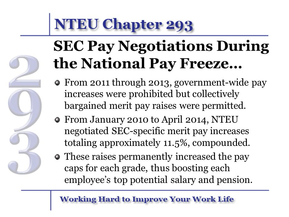 SEC Pay Negotiations During the National Pay Freeze…