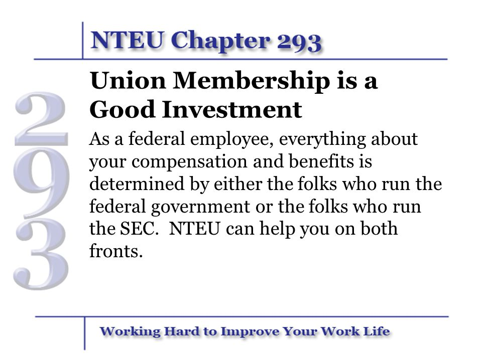 Union Membership is a Good Investment