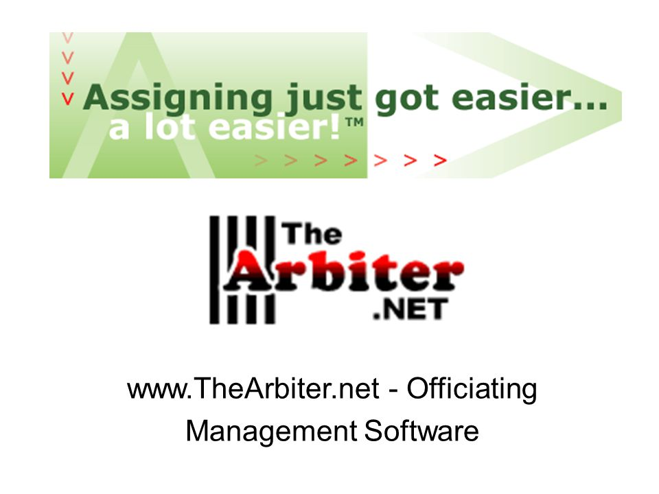 www.TheArbiter.net - Officiating Management Software