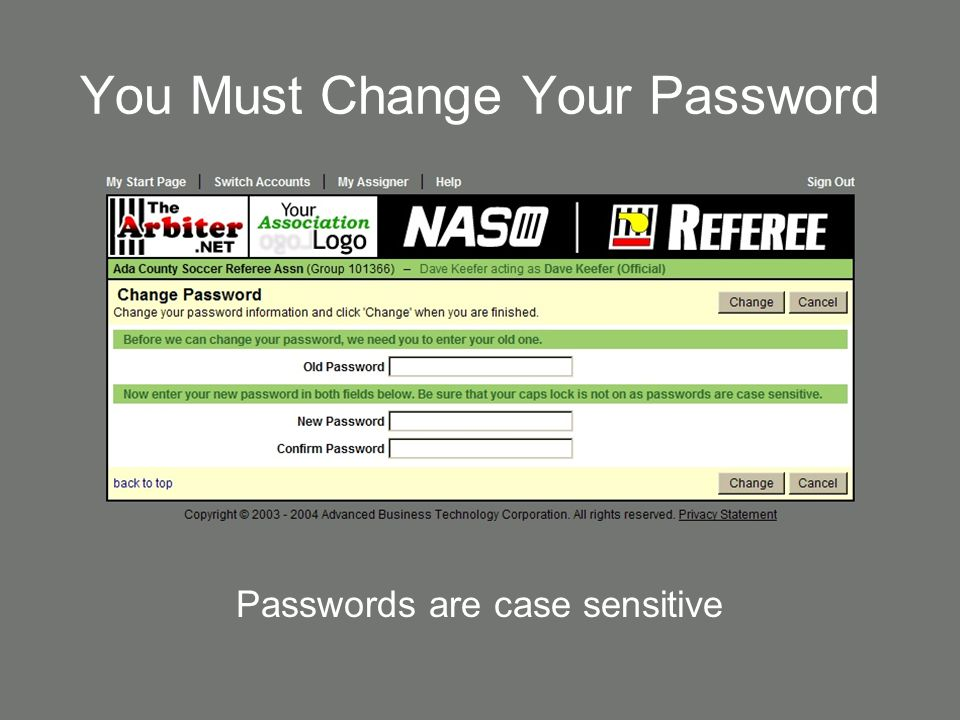 You Must Change Your Password