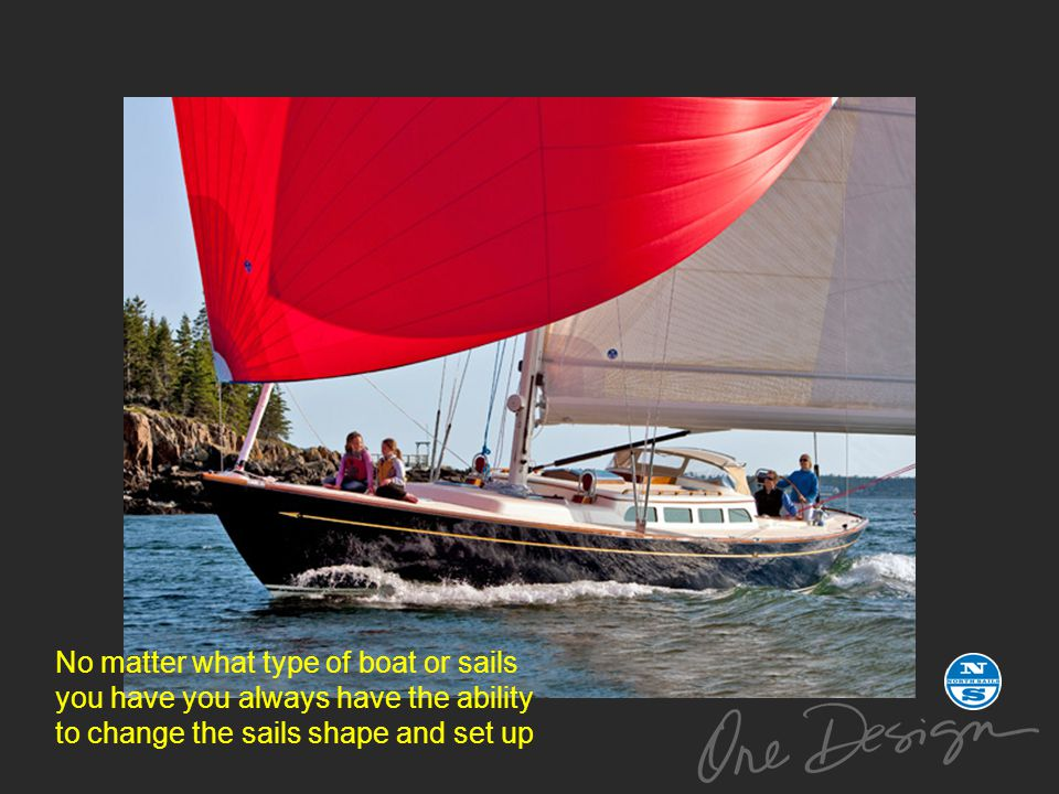 No matter what type of boat or sails you have you always have the ability to change the sails shape and set up