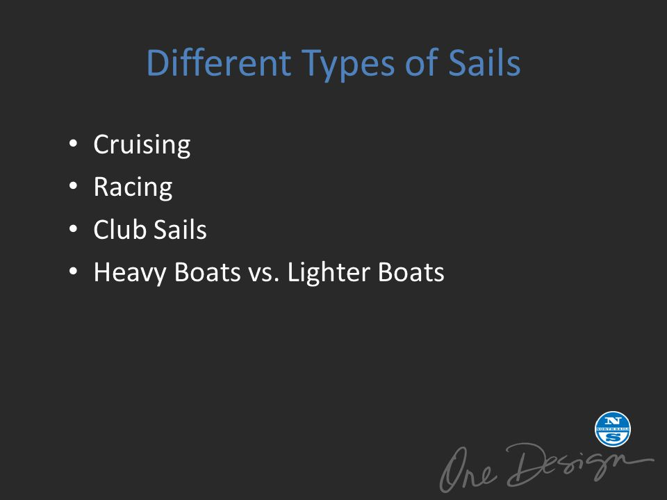 Different Types of Sails