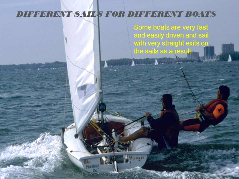 DIFFERENT SAILS FOR DIFFERENT BOATS
