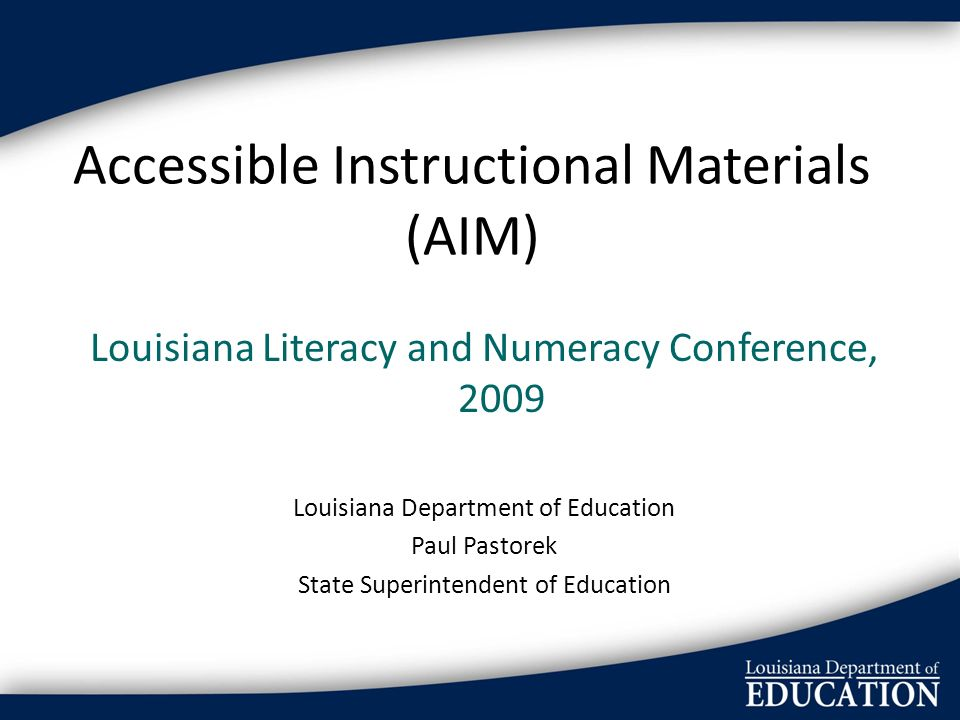 Accessible Instructional Materials (AIM)