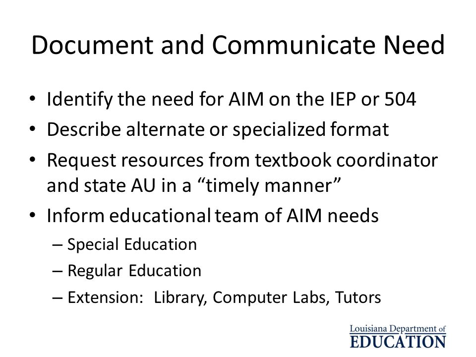 Document and Communicate Need