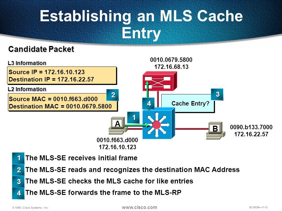 Establishing an MLS Cache Entry