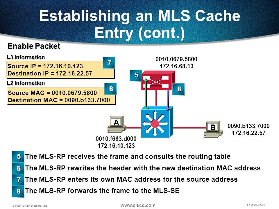 Establishing an MLS Cache Entry (cont.)