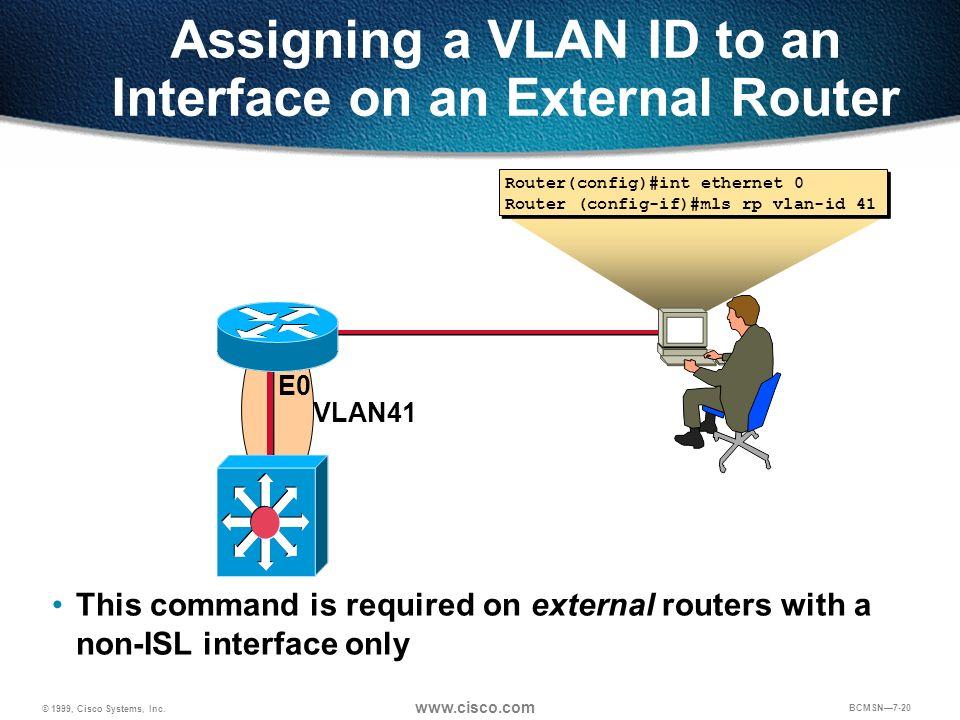 Assigning a VLAN ID to an Interface on an External Router