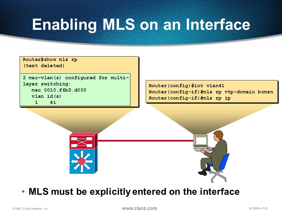 Enabling MLS on an Interface