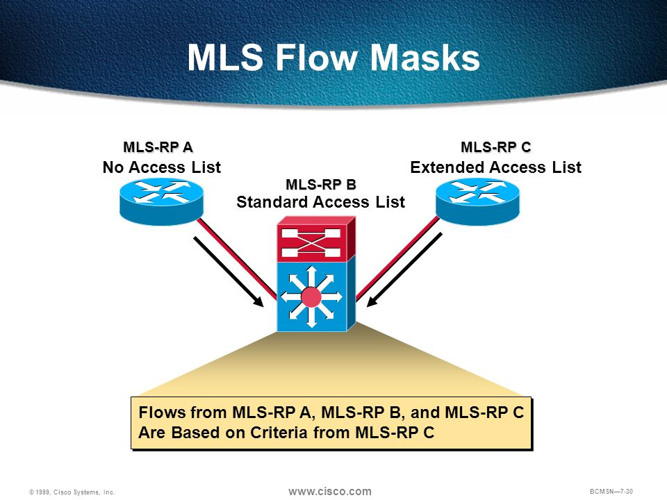 MLS Flow Masks No Access List Extended Access List