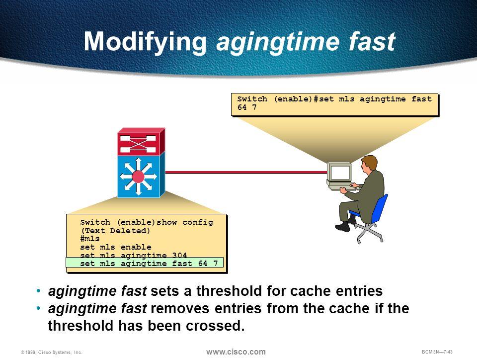 Modifying agingtime fast