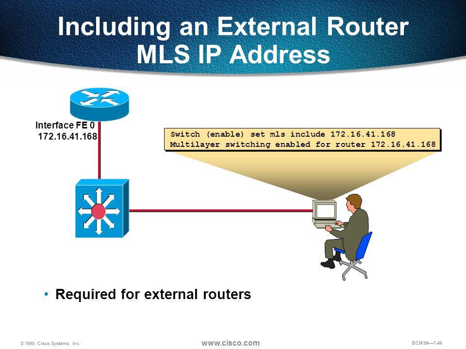 Including an External Router MLS IP Address