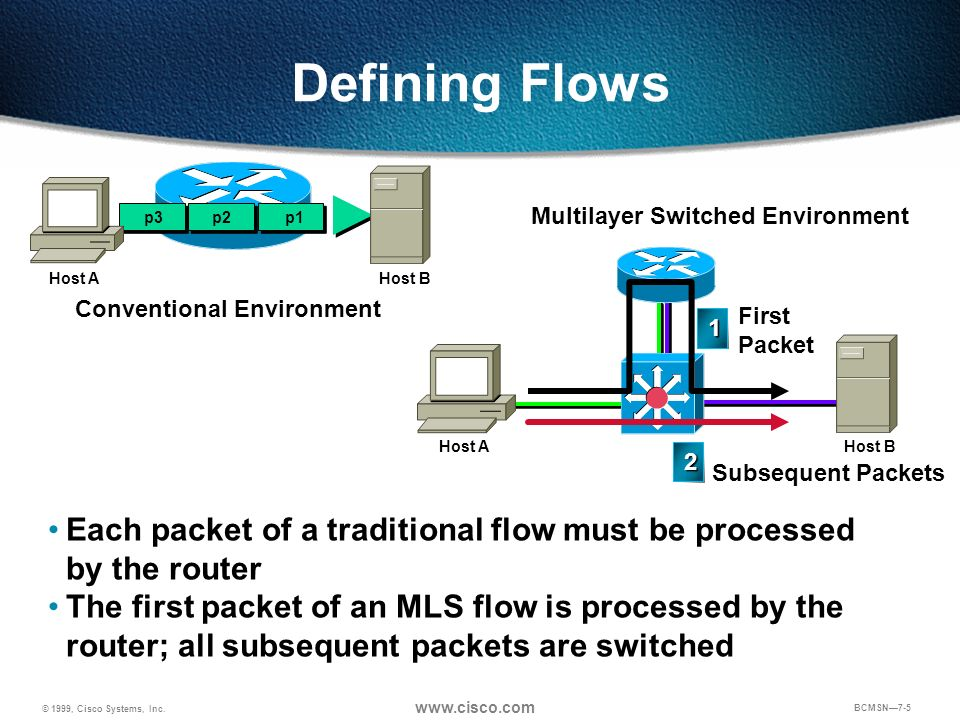 Multilayer Switched Environment Conventional Environment