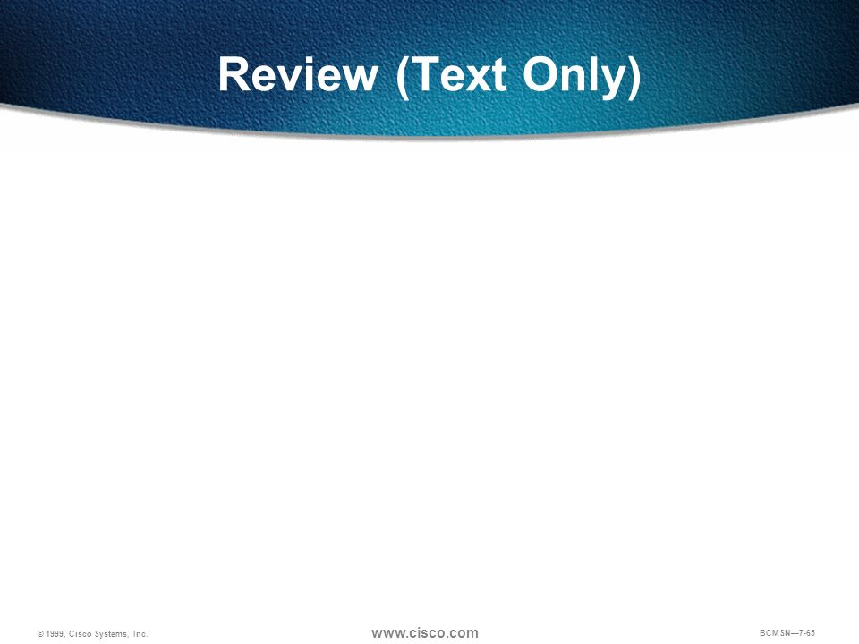 Review (Text Only) Points of discussion for review question 3: