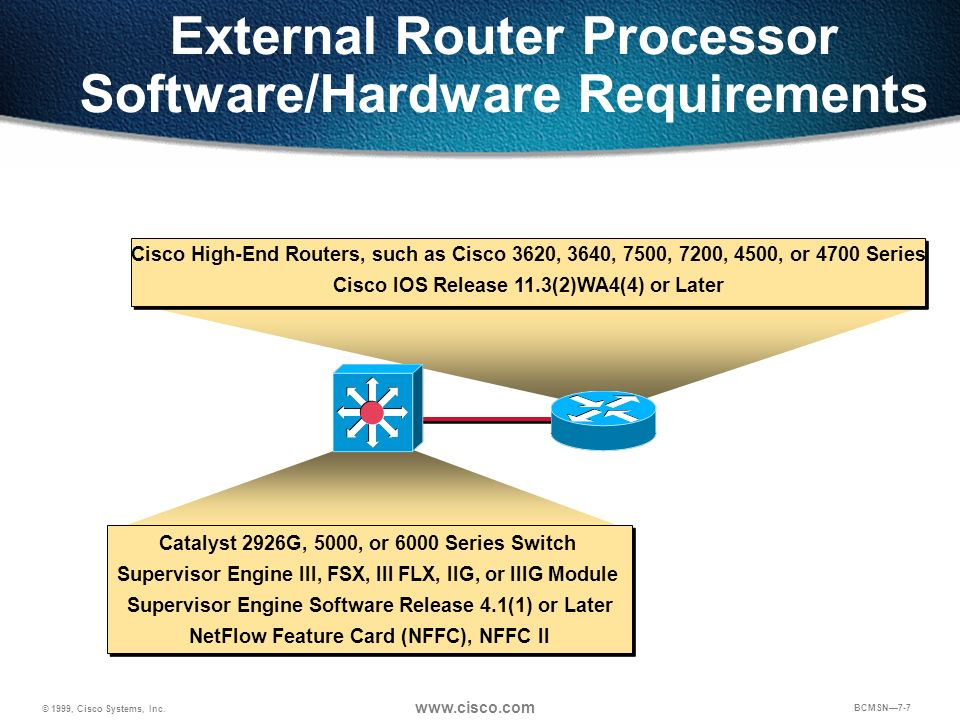 External Router Processor Software/Hardware Requirements