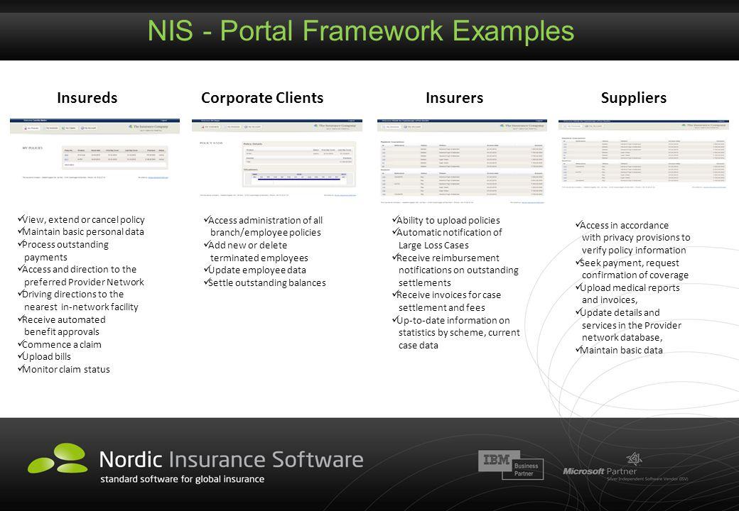 NIS - Portal Framework Examples