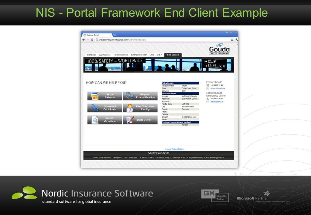 NIS - Portal Framework End Client Example