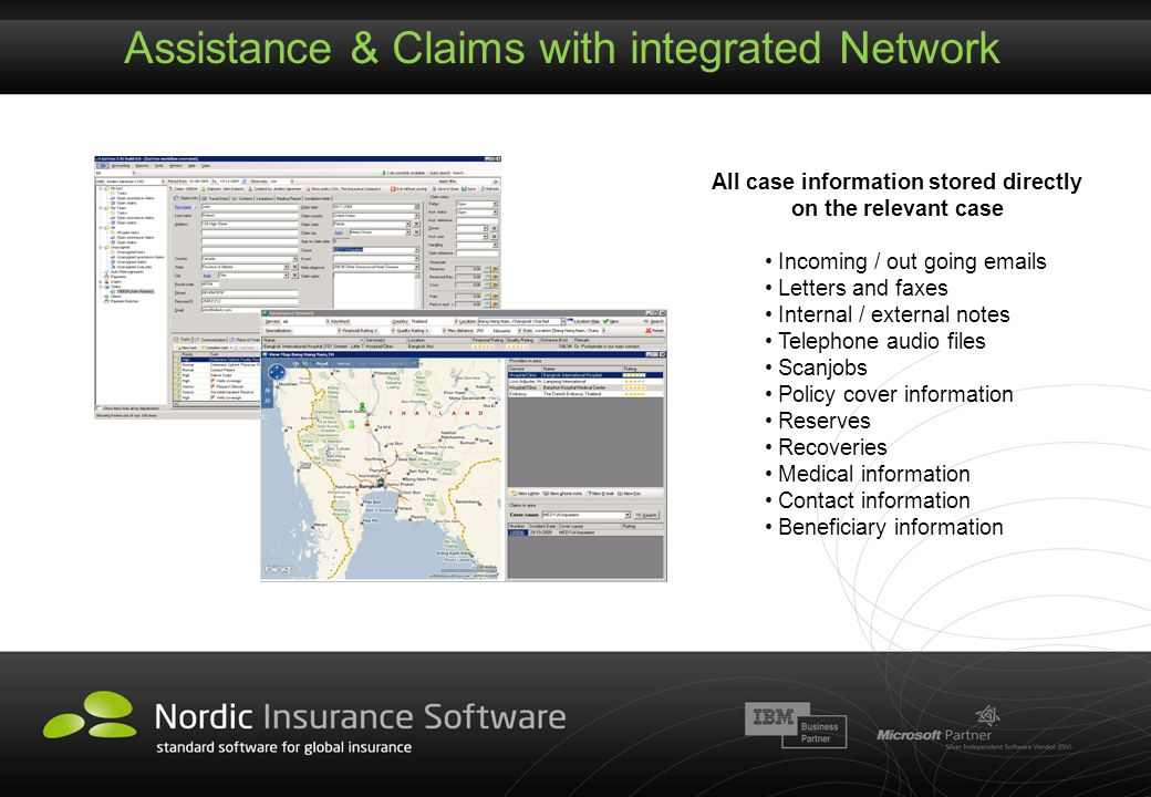 Assistance & Claims with integrated Network