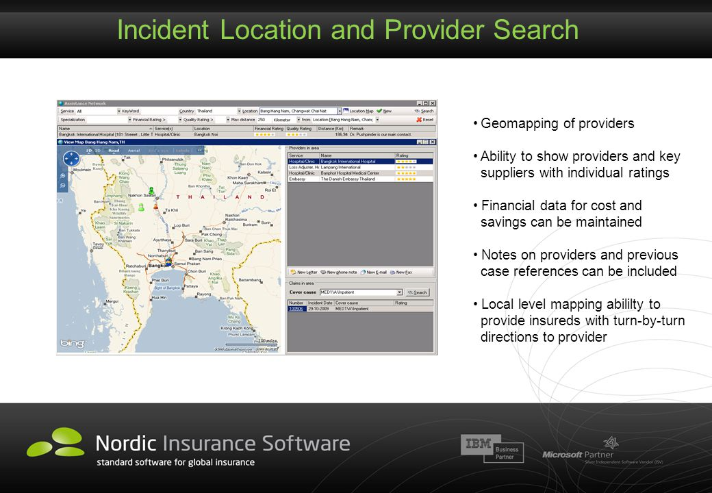 Incident Location and Provider Search