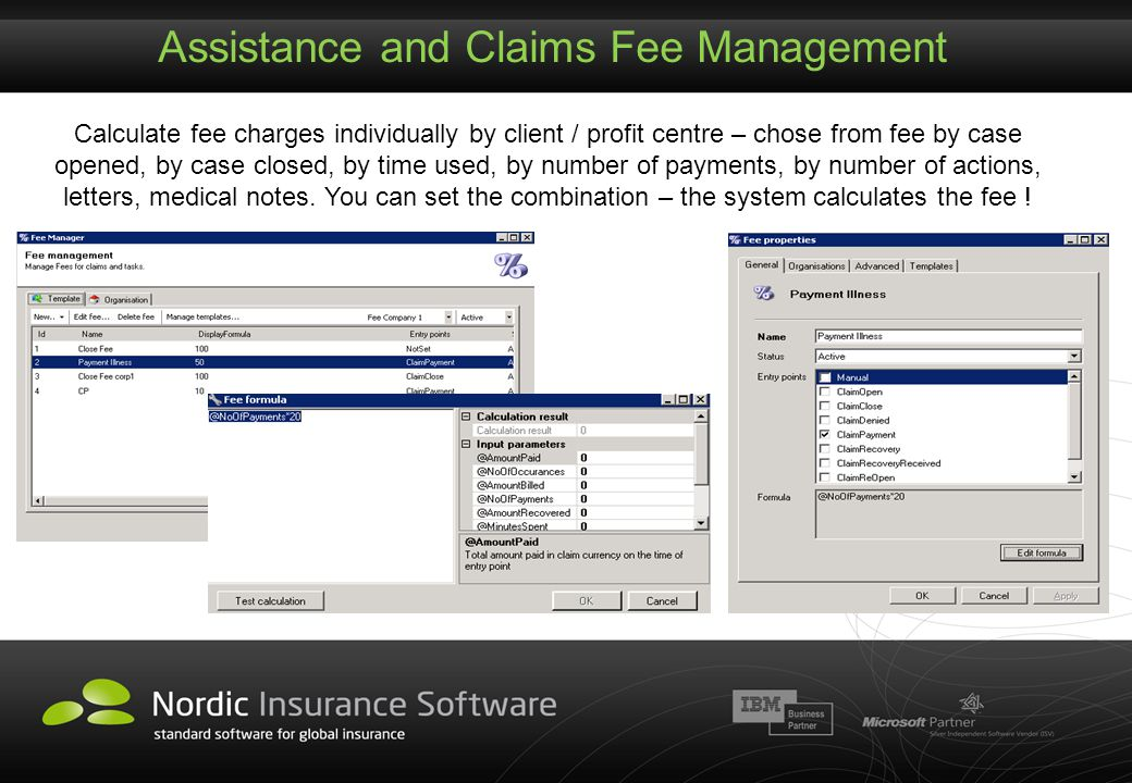 Assistance and Claims Fee Management