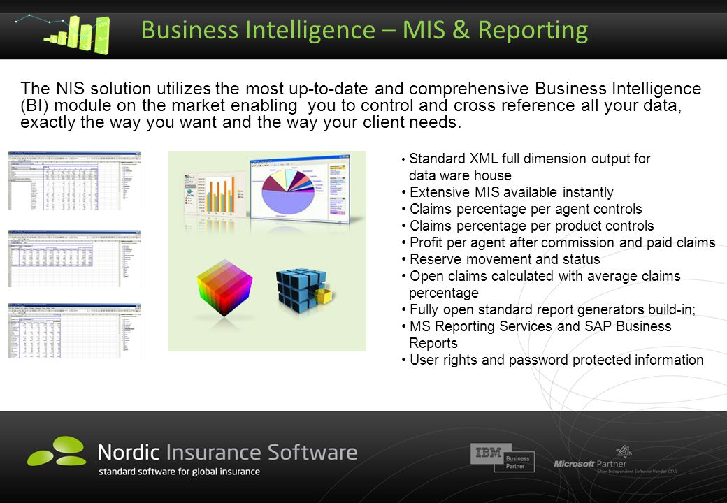 Business Intelligence – MIS & Reporting