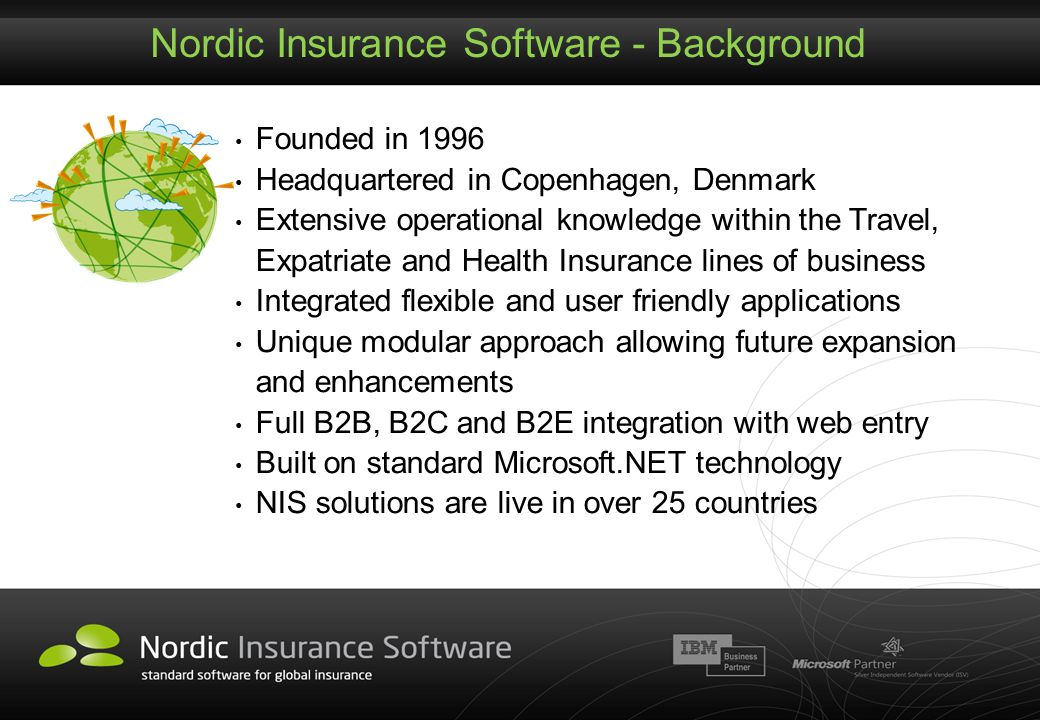 Nordic Insurance Software - Background