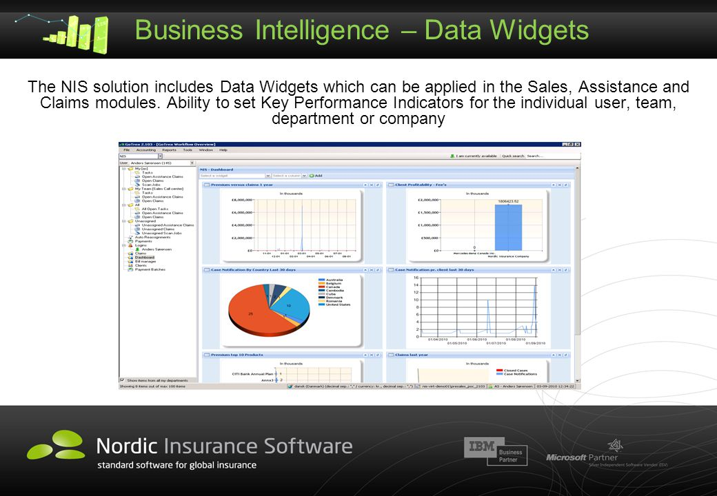 Business Intelligence – Data Widgets
