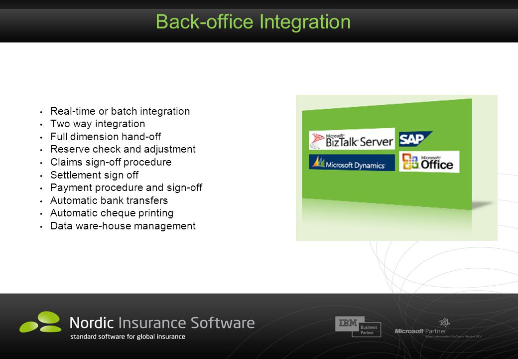 Back-office Integration