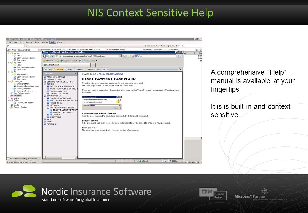 NIS Context Sensitive Help