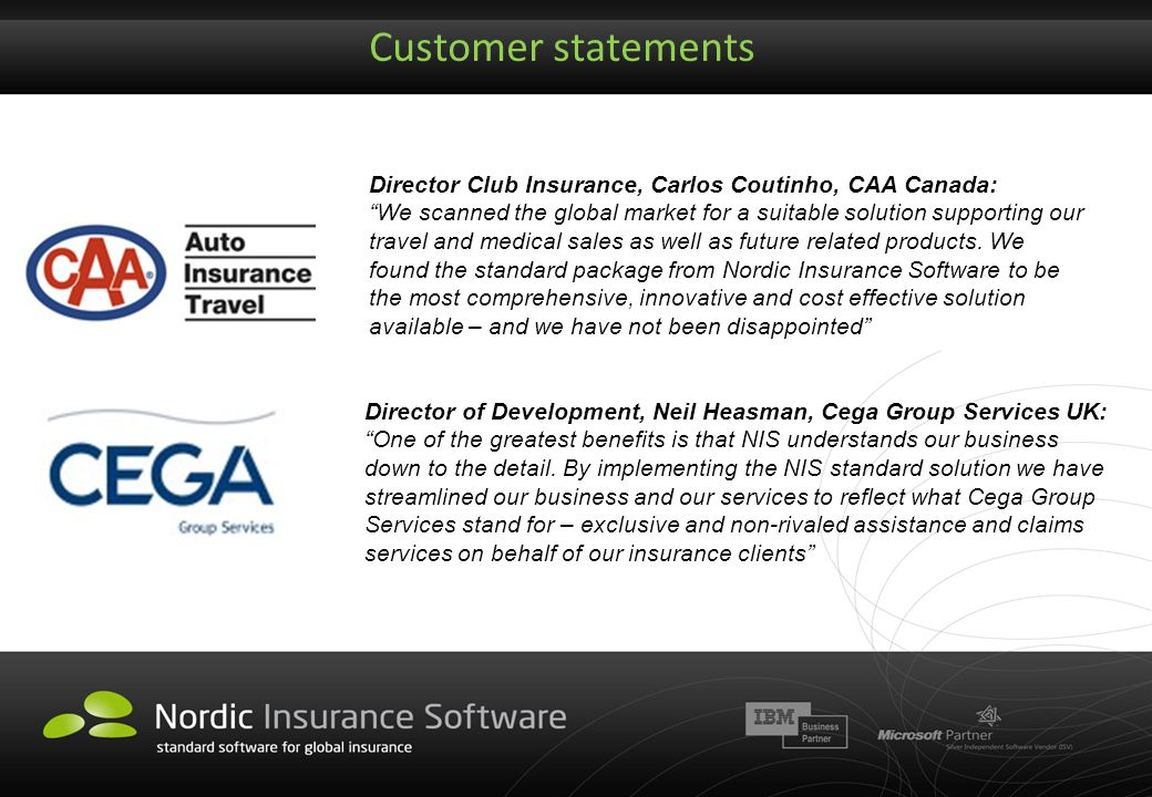 Customer statements