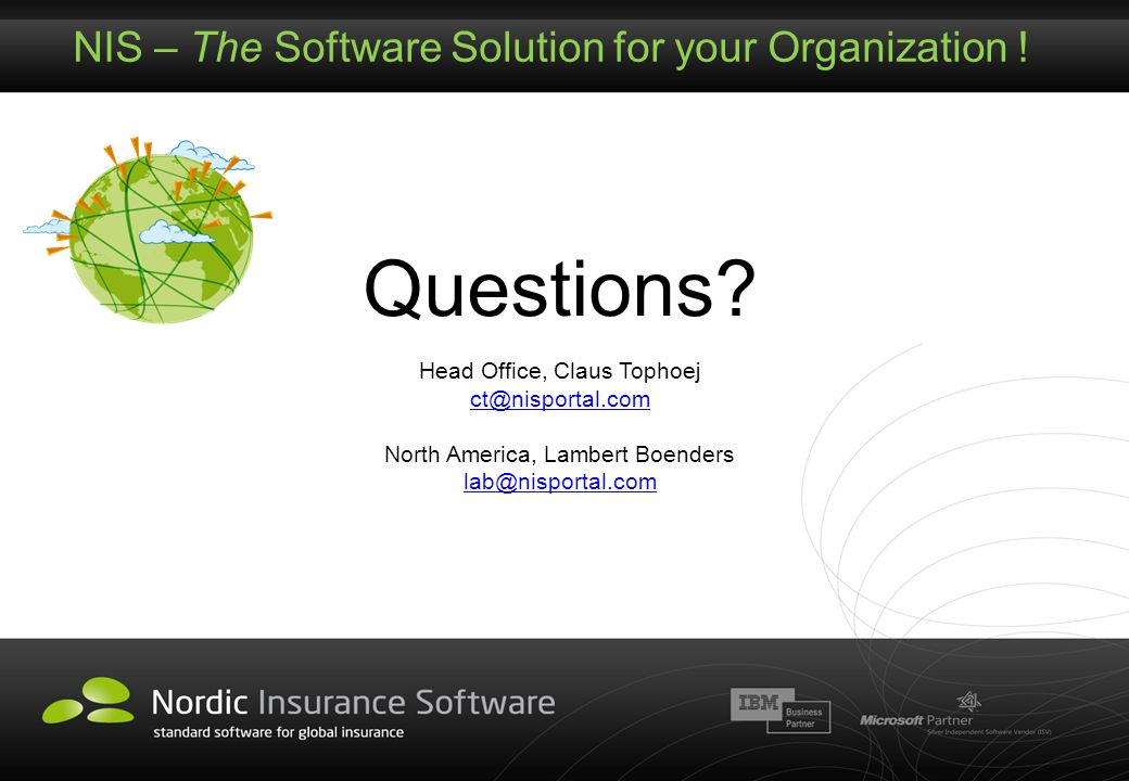 NIS – The Software Solution for your Organization !