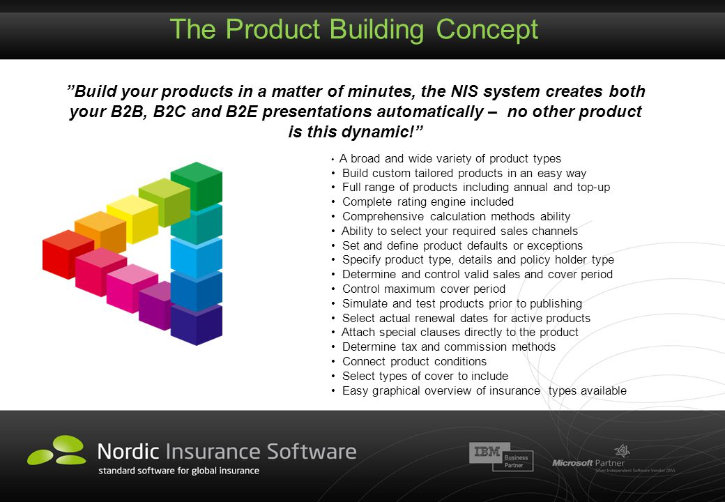 The Product Building Concept