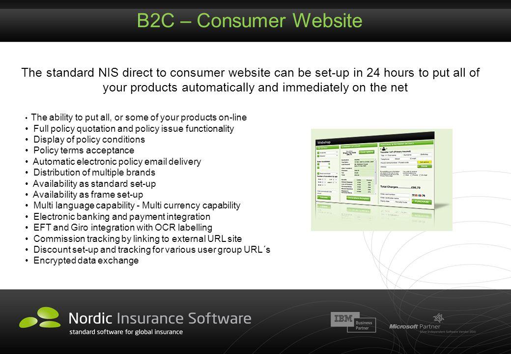 B2C – Consumer Website
