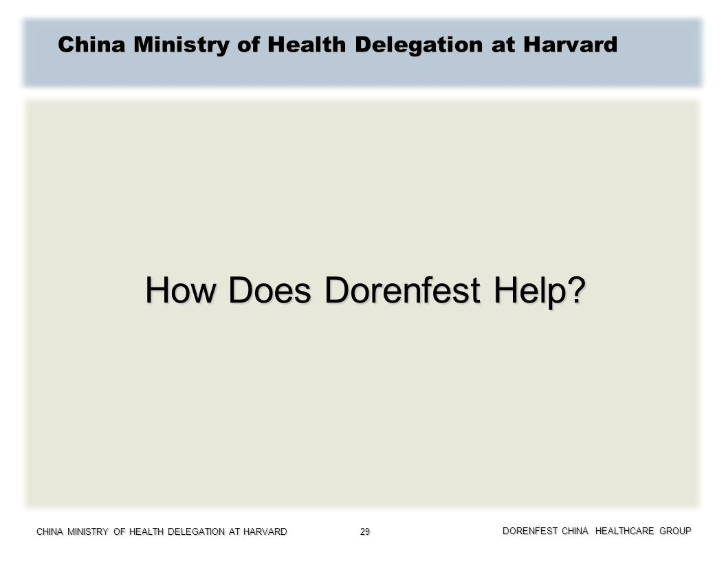 China Ministry of Health Delegation at Harvard