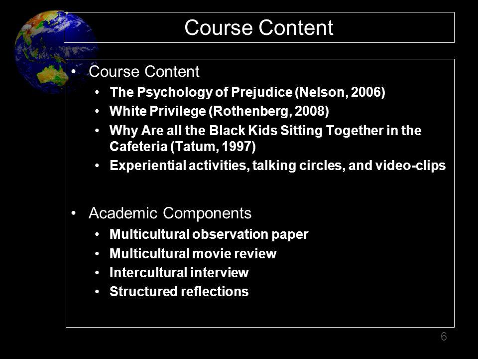 Course Content Course Content Academic Components