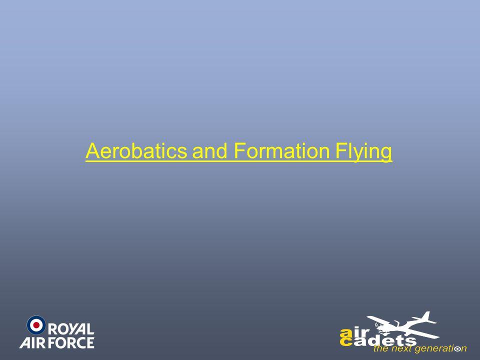 Aerobatics and Formation Flying