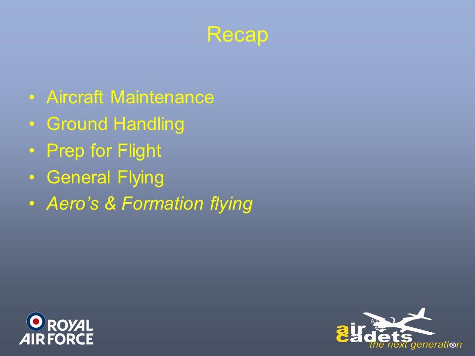 Recap Aircraft Maintenance Ground Handling Prep for Flight