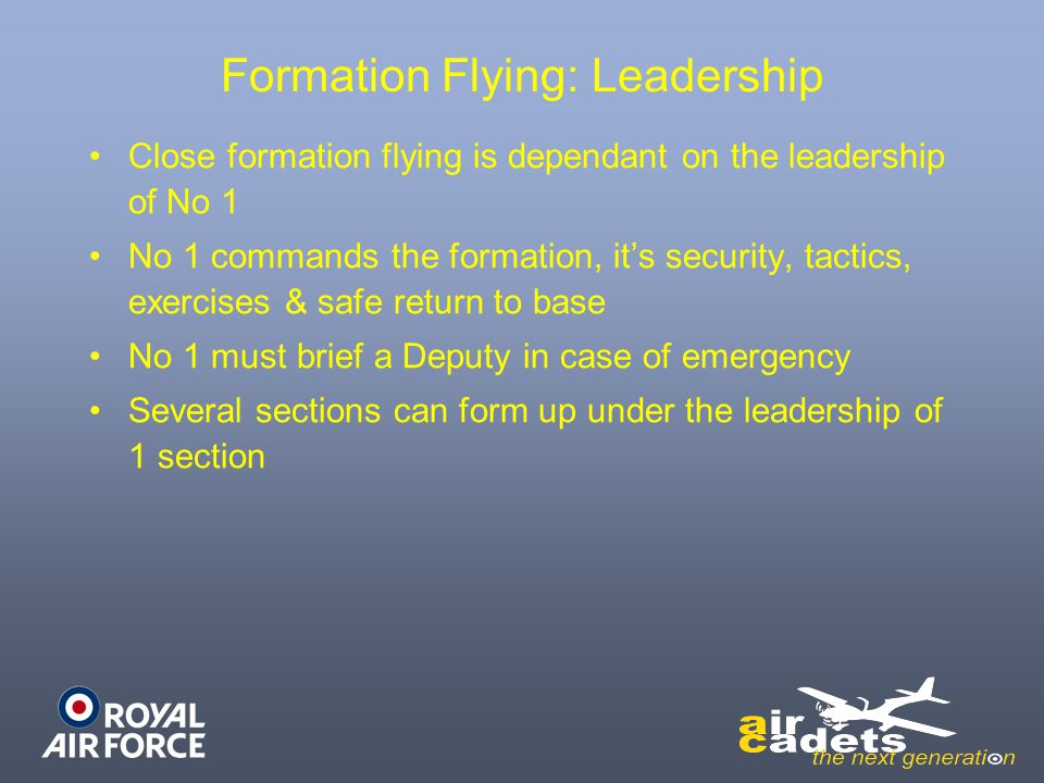 Formation Flying: Leadership