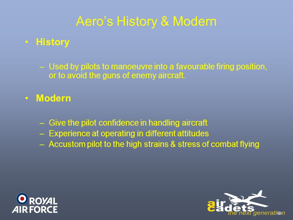 Aero's History & Modern
