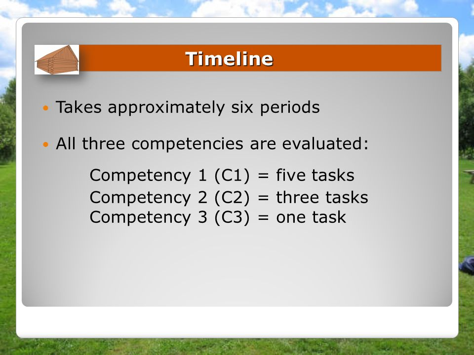 Competency 1 (C1) = five tasks