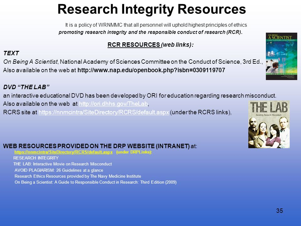 Research Integrity Resources