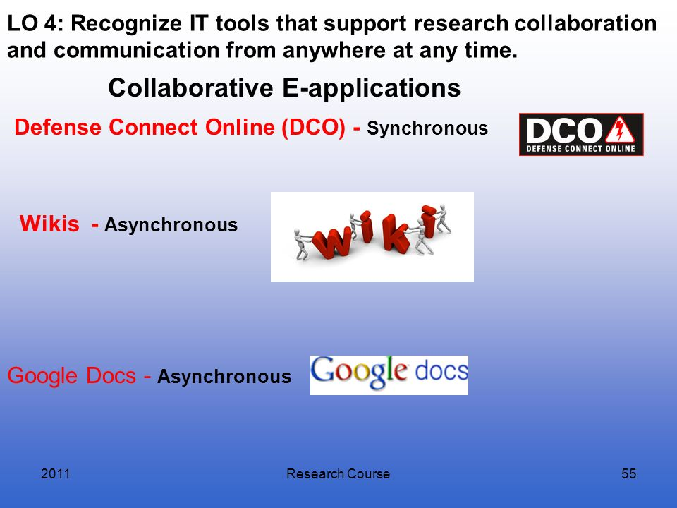 Collaborative E-applications