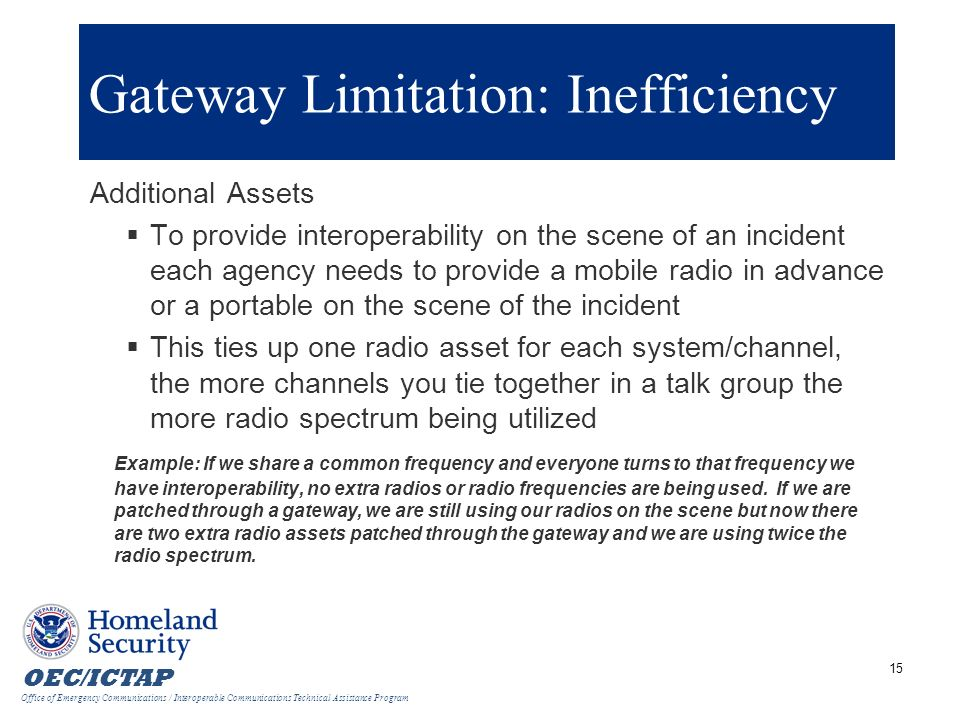 Gateway Limitation: Inefficiency
