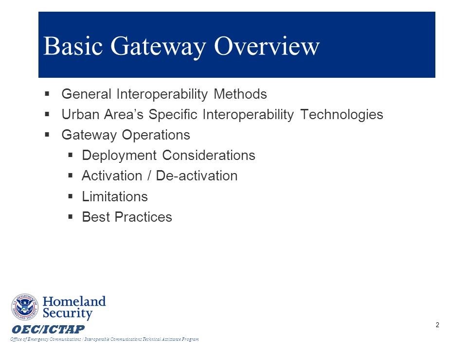 Basic Gateway Overview