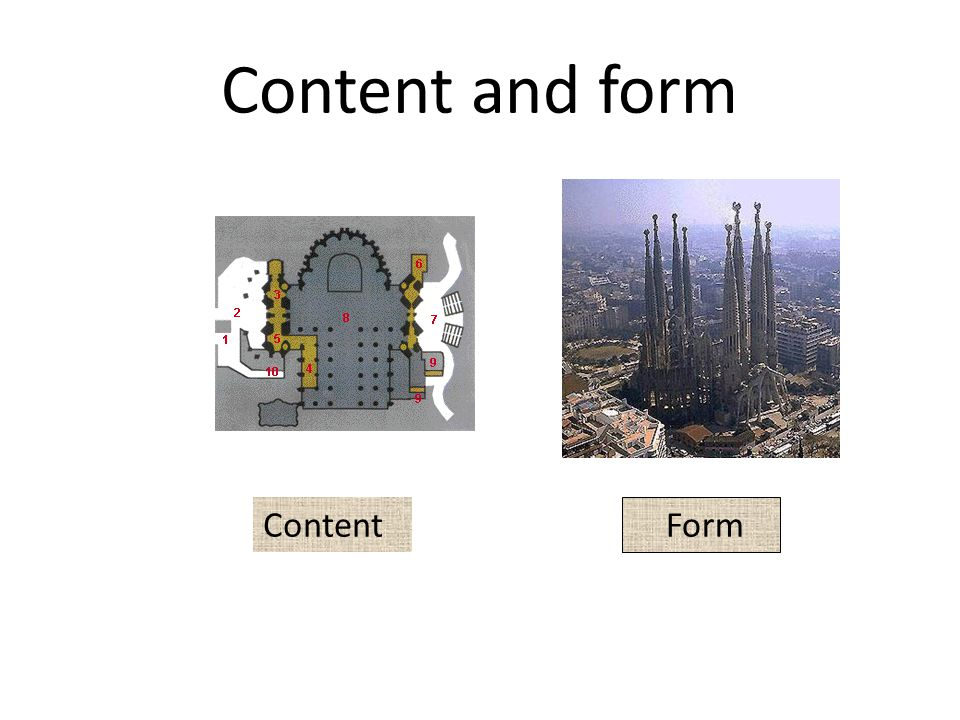 Content and form Content Form