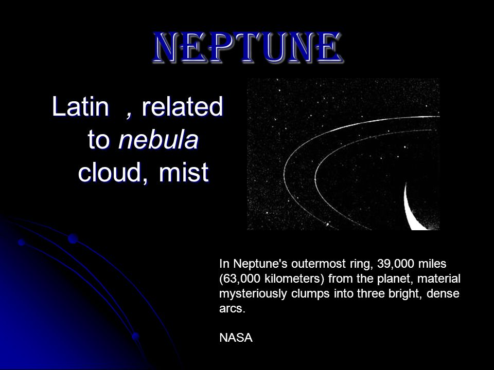 Latin , related to nebula cloud, mist